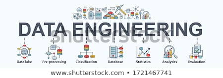 Groot gegevens engineering banner ingenieurs Stockfoto © RAStudio