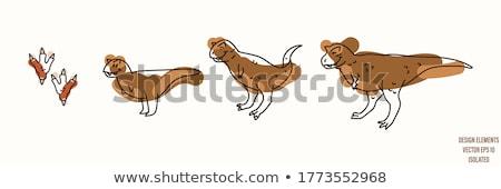 Vektor rajzolt állat clip art ül aranyos zsiráf Stock fotó © VetraKori