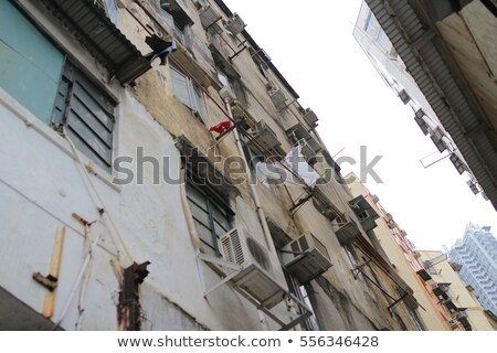 Messy side alley in Hong Kong city Stock photo © Juhku