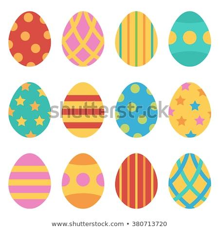 Easter eggs uccelli illustrazione bianco fiore natura Foto d'archivio © dvarg