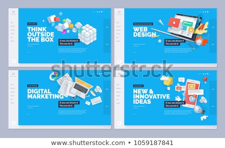Graphic and Web Design Website Pages Development Stock photo © robuart