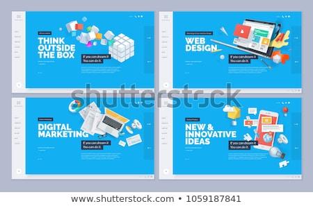 negocios · proceso · diseno · estilo · colorido · ilustración - foto stock © robuart