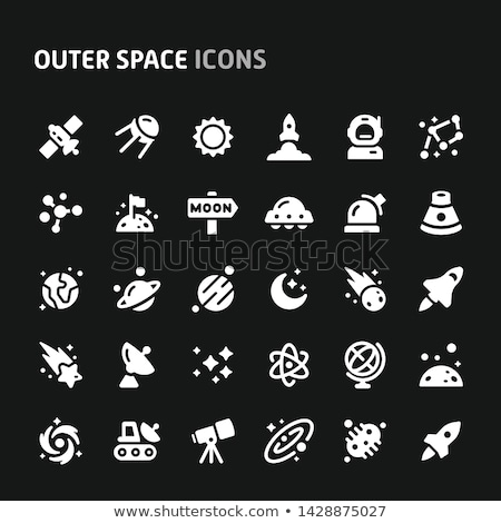 Comet Icon set Stock photo © designleo