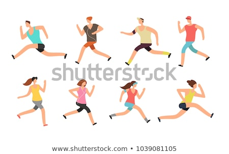 Courir marathon personnes courir coloré Photo stock © marish