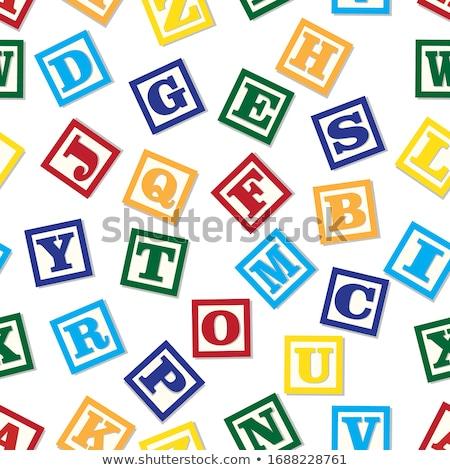 wooden alphabet blocks pattern stock photo © netkov1