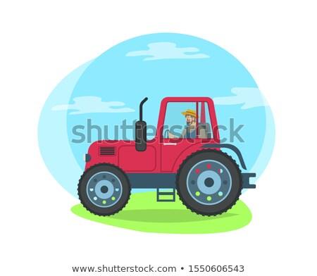 Personnes tracteur transport personnes travaillant Photo stock © robuart