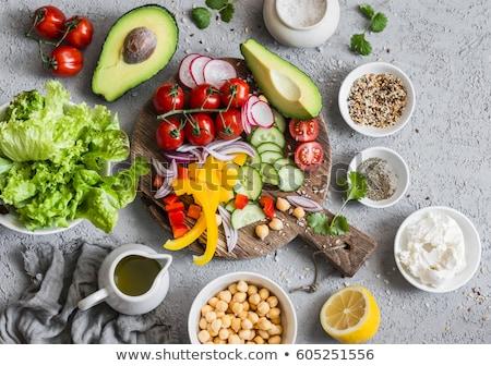 ingredients to prepare a buddha bowl Stock photo © nito