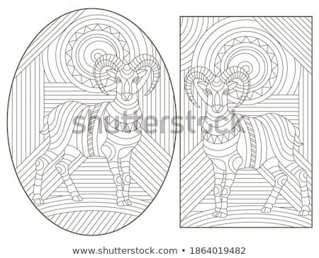 Bighorn Sheep Ram Mosaic Color Stock photo © patrimonio