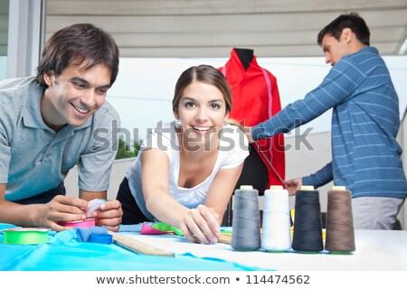 2 幸せ 小さな 創造 服 立って ストックフォト © pressmaster