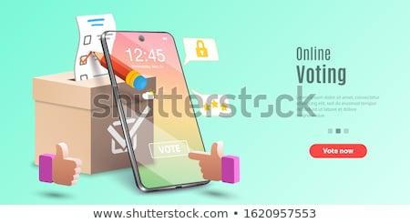 Elektronicznej głosowanie lądowanie strona online wybory Zdjęcia stock © RAStudio