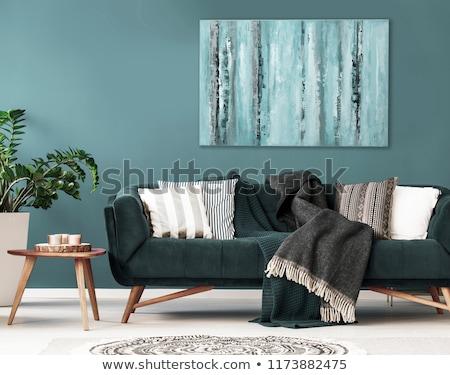 Interni home soggiorno divano tavola comfort Foto d'archivio © dolgachov