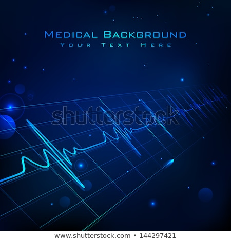 medical and healthcare background with heartbeat lines Stock photo © SArts