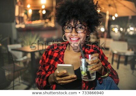 Portrait femme cocktail night-club affaires Photo stock © wavebreak_media