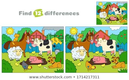 Diferenças jogo feliz desenho animado Foto stock © izakowski