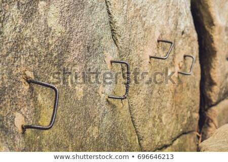 żelaza kroki rock skomplikowany turystyka tekstury Zdjęcia stock © galitskaya