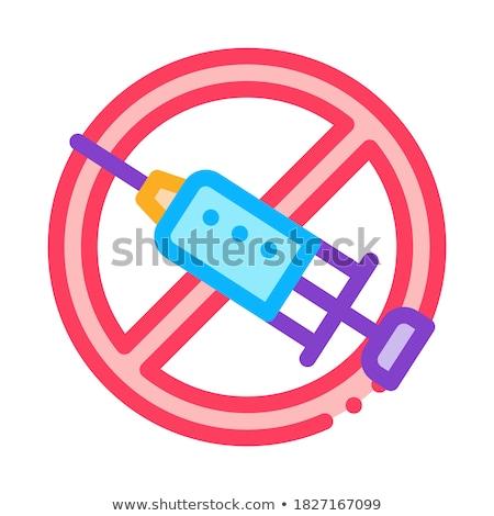 Injeção proibir ícone vetor ilustração Foto stock © pikepicture