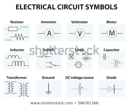 Eléctrica electrónico iconos diagrama símbolos puente Foto stock © ukasz_hampel