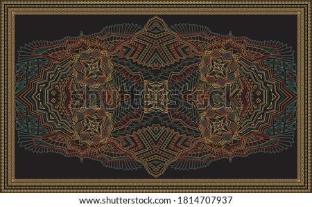 Tribal kunst print etnische meetkundig Stockfoto © sanyal