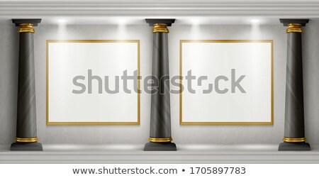 Greco colonna nero copia spazio illustrazione 3d luce Foto d'archivio © make