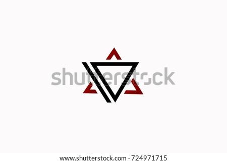 Lettre delta géométrique triangle conception de logo affaires Photo stock © kyryloff
