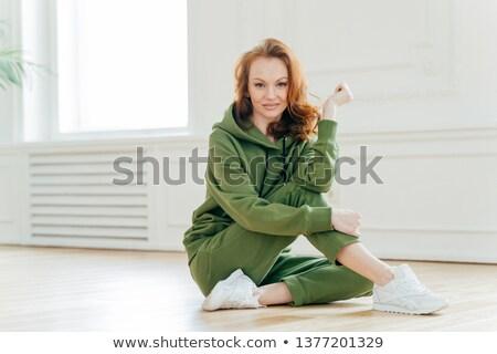 満足した 小さな 女性 良い ボディ ストックフォト © vkstudio