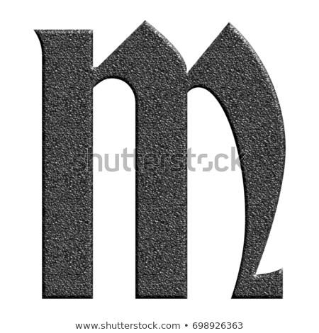 Classic old fashioned font Letter M 3D Stock photo © djmilic
