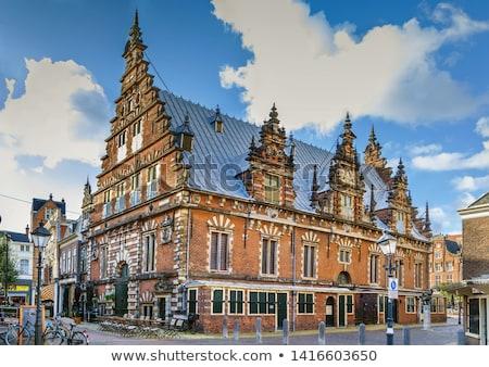 Niederlande Kirche Gebäude Stadt blau Stock foto © borisb17