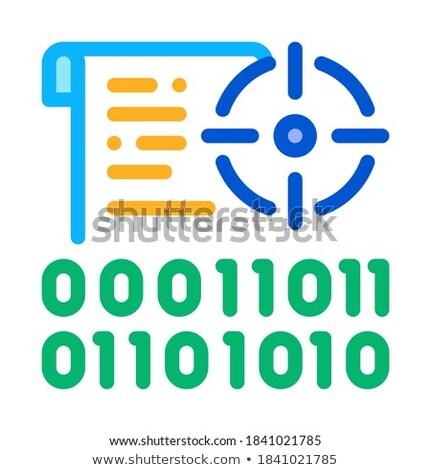 Binário alvo ícone vetor ilustração Foto stock © pikepicture