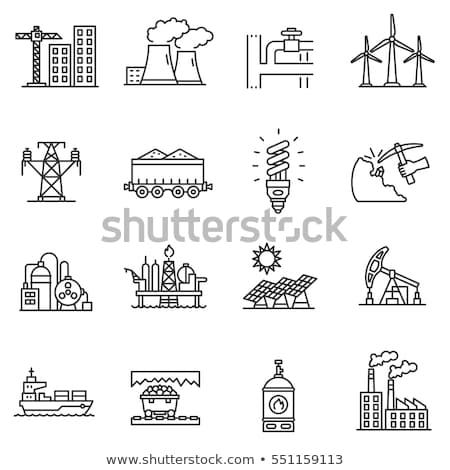 Coal Mining Equipment Collection Icons Set Vector Stock photo © pikepicture