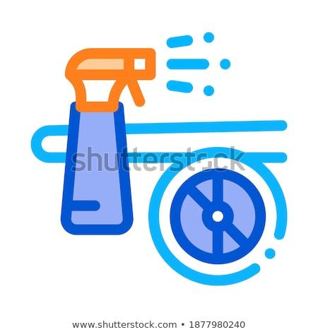 Mos spray repülőgép ikon vektor skicc Stock fotó © pikepicture