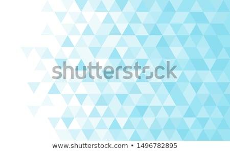 Fehér szalag kék háromszög halftone minta Stock fotó © SArts