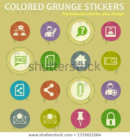 Forum interfaccia colorato grunge icone colla Foto d'archivio © ayaxmr