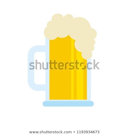 Sör üveg hab ital hideg fény Stock fotó © yupiramos