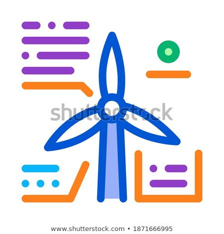 Studie windmolen icon vector schets illustratie Stockfoto © pikepicture