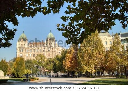Ouderwets historisch gebouw vierkante Boedapest Hongarije Stockfoto © artjazz