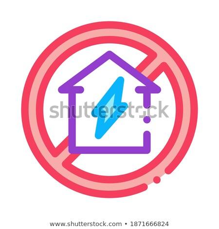 Casa assinar arruinar ícone vetor Foto stock © pikepicture