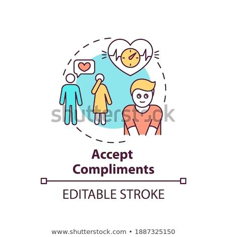 Body positive happy woman vector concept metaphor. Stock photo © RAStudio