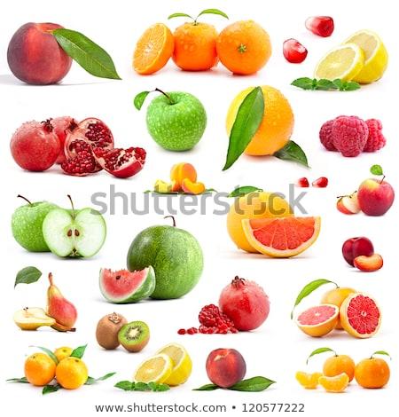 Conjunto laranja tangerina fresco frutas projeto Foto stock © boroda