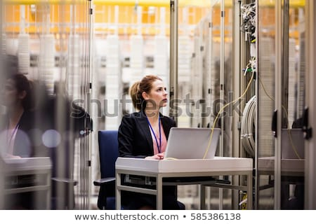 Woman wiring a room Stock photo © photography33