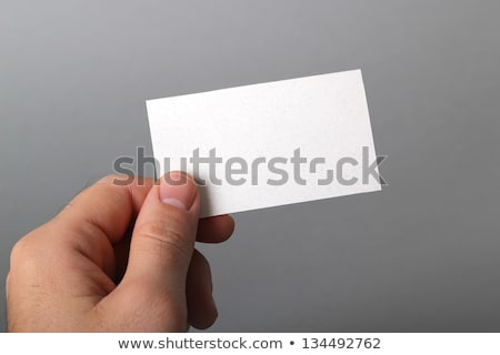 businessman thumb up showing business card Stock photo © photography33