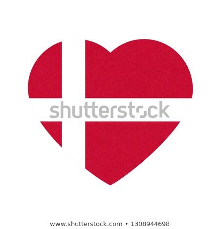 Imagen corazón bandera Dinamarca país Foto stock © perysty