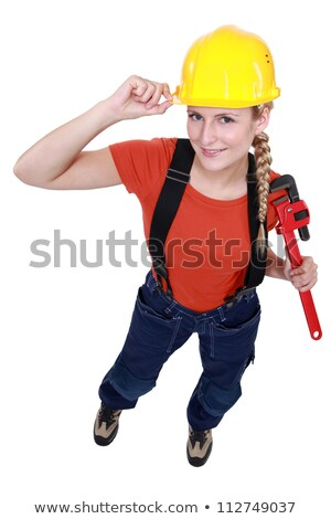 Blond manual worker reporting for duty Stock photo © photography33