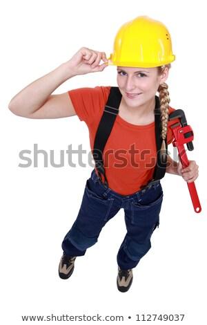 Loiro manual trabalhador dever cara mulheres Foto stock © photography33