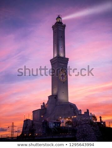 Маяк фонарь Восход свет небе город Сток-фото © 5xinc