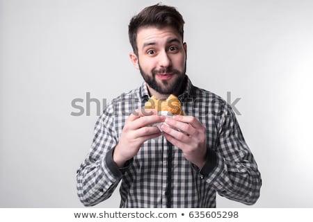 genç · işadamı · yemek · sandviç · ofis · gıda - stok fotoğraf © photography33