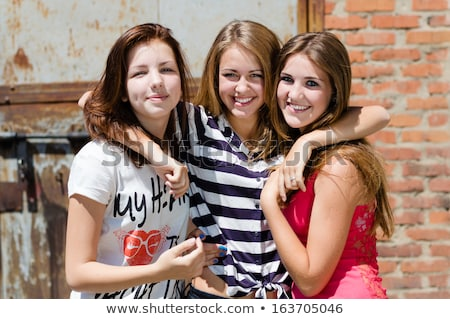 Three teenagers grimacing Stock photo © photography33