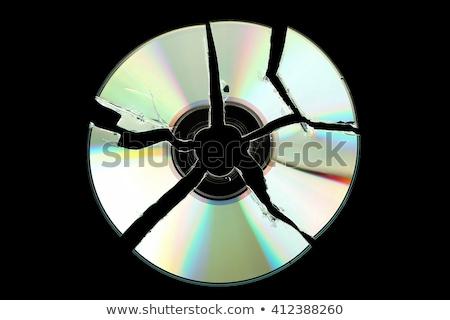 Gebroken cd compact disc geïsoleerd witte Stockfoto © ajt