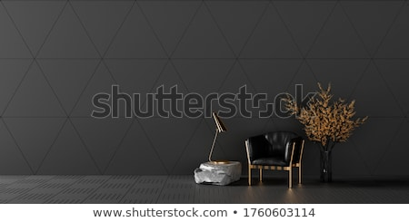 leather armchairs and plant stock photo © ciklamen
