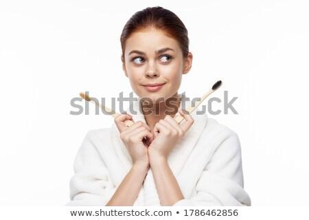 Woman holding bamboo Stock photo © photography33