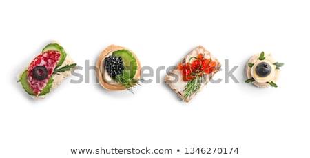 tomate · queso · pizza · fondo · almuerzo · vegetales - foto stock © m-studio